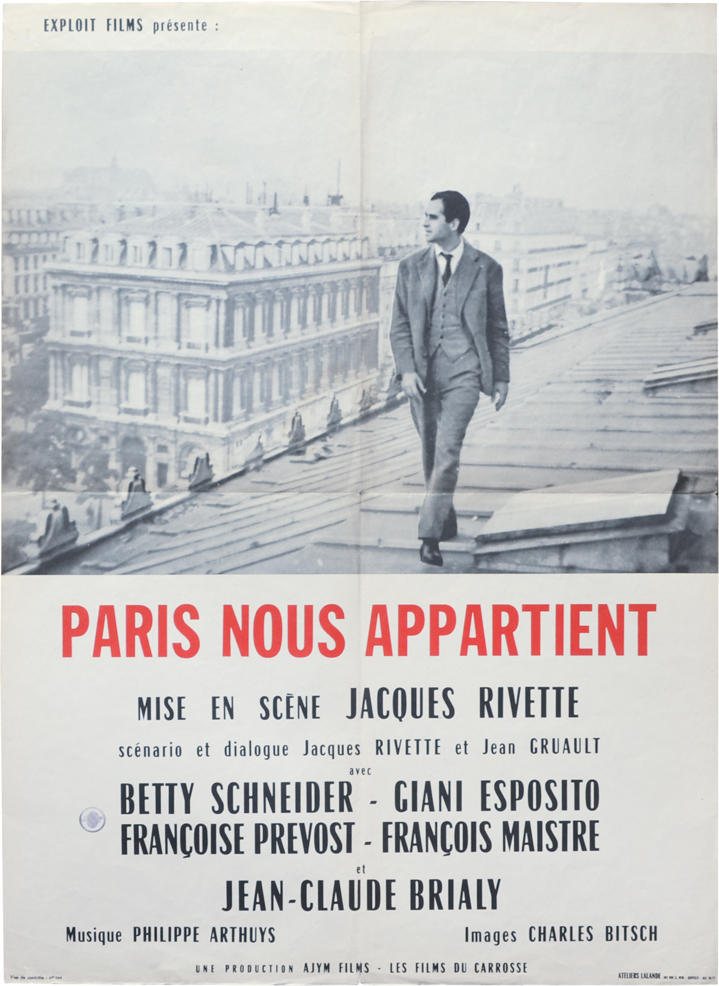 paris rivette poster 1961