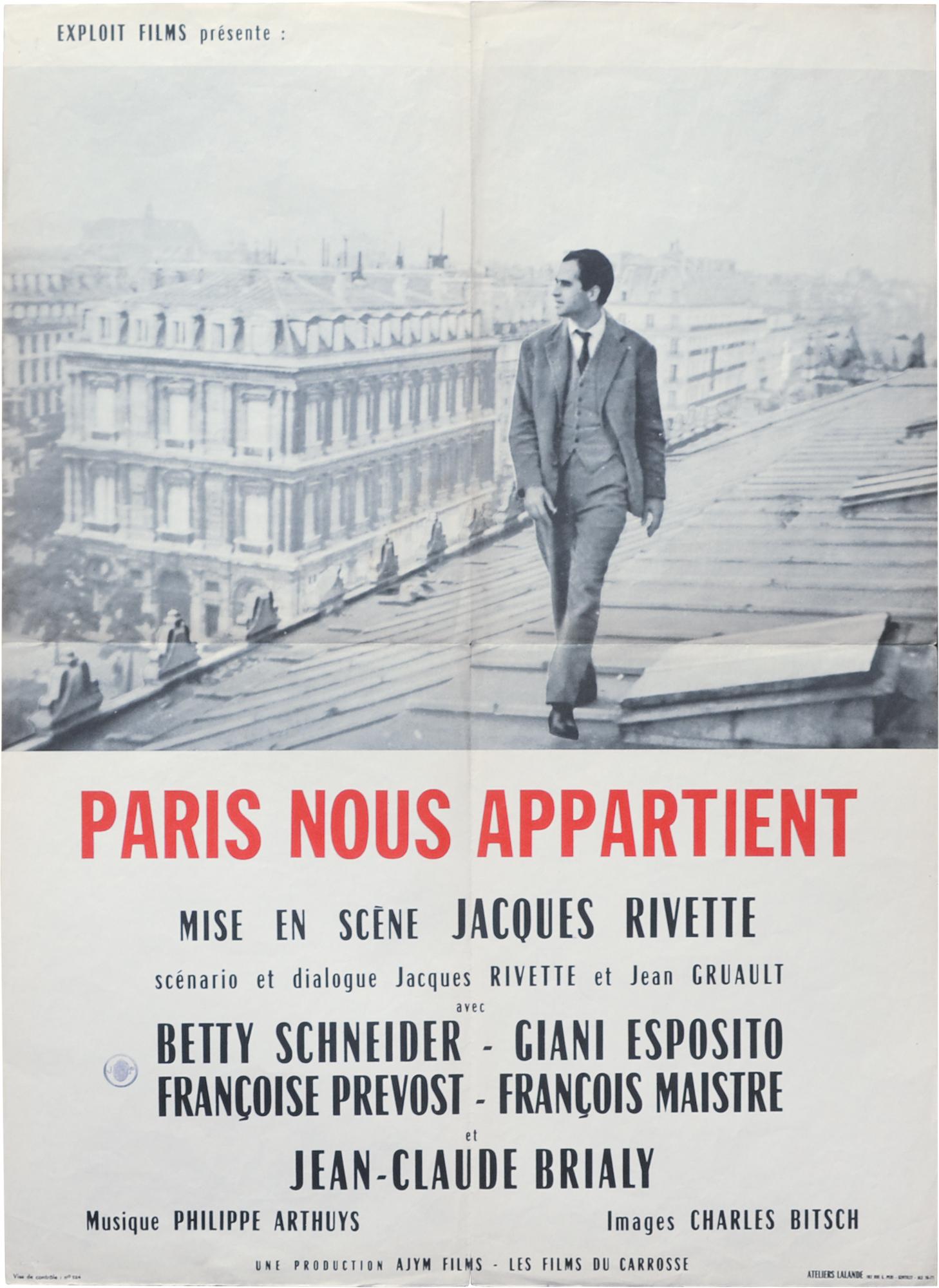 paris rivette poster 1961