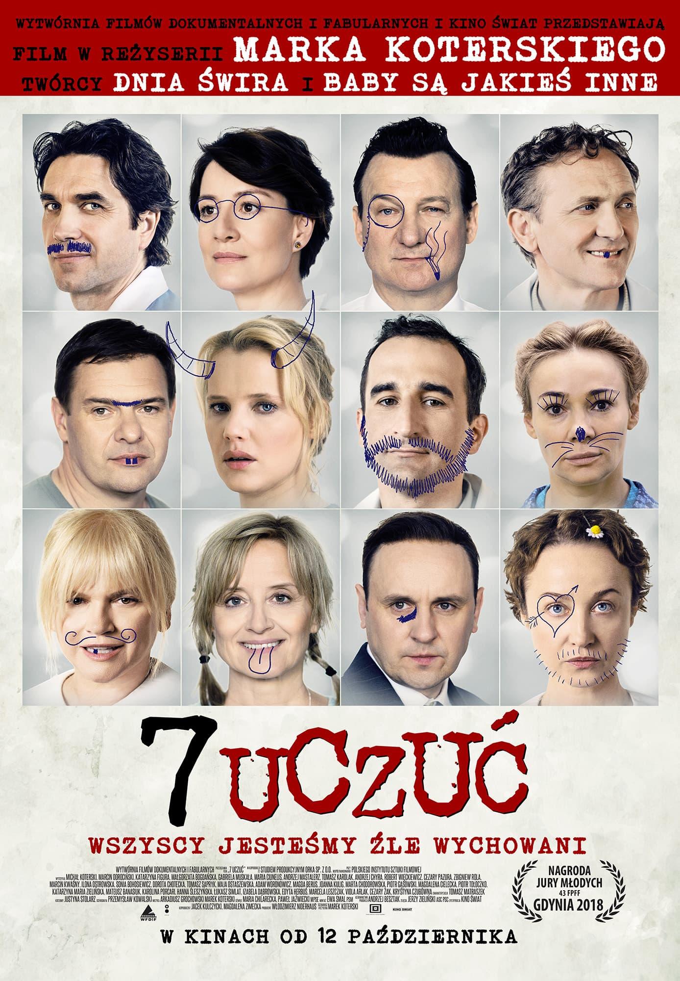 7 uczuć plakat