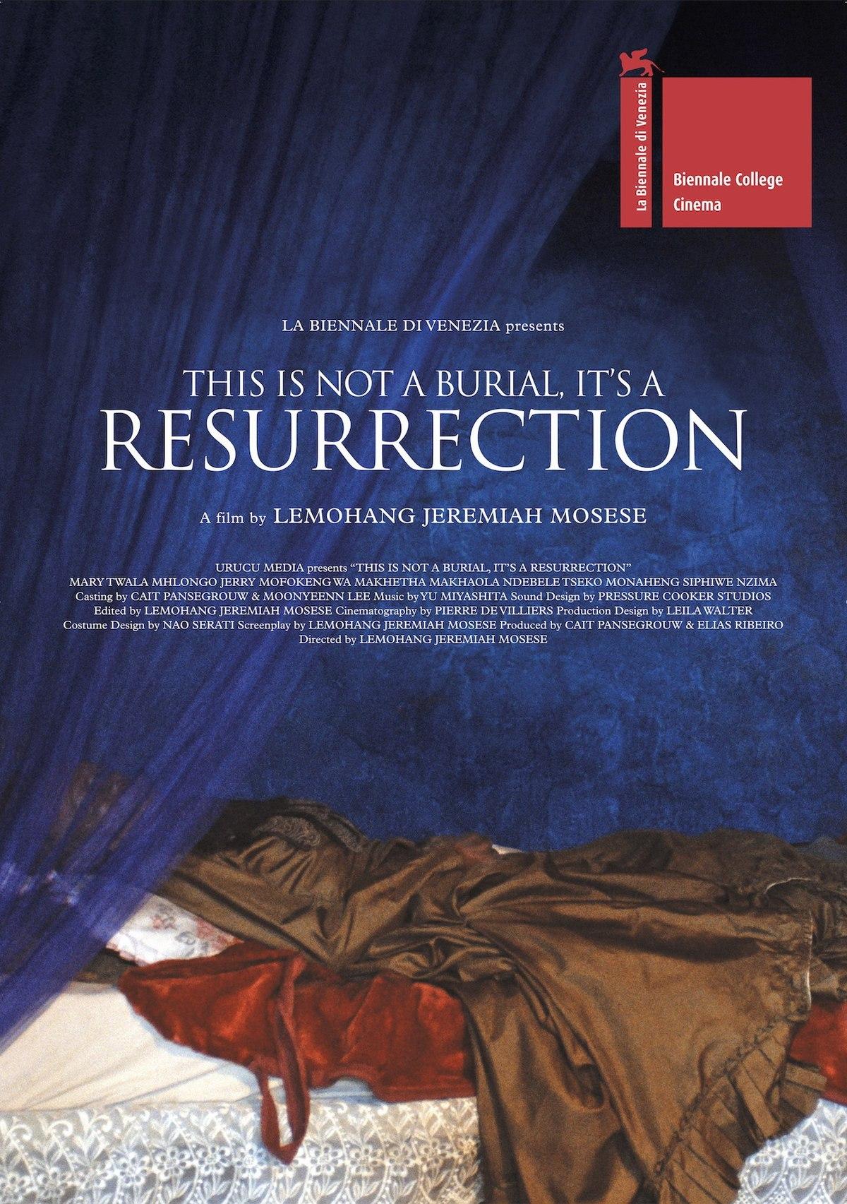 To nie pogrzeb, to zmartwychwstanie plakat